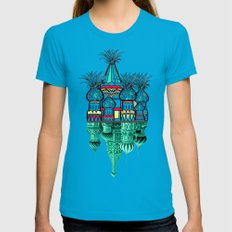 Pineapple architecture  Womens Fitted Tee Teal SMALL