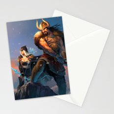League of Legends-Tryndamere and Ashe Stationery Cards