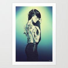 Fractured 02 Art Print