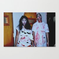 The Doctor and Zombie Canvas Print