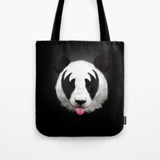 Kiss of a panda Tote Bag