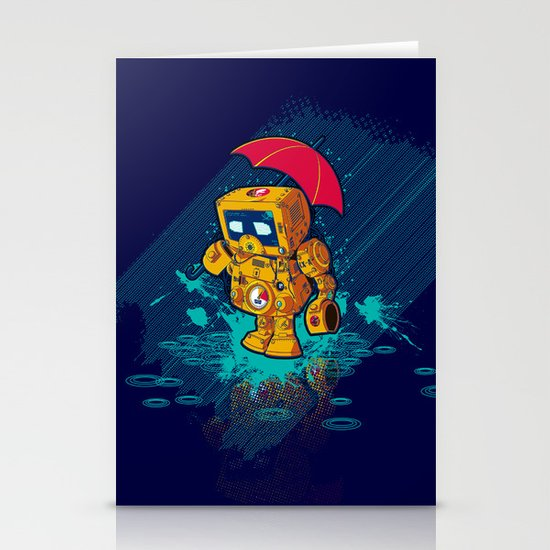 TINY ROBOT Stationery Card