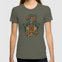 Hamsa Womens Fitted Tee Lieutenant SMALL