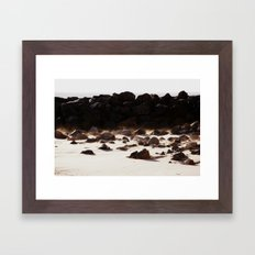By the Rock Framed Art Print