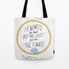 Ring Finger Tote Bag