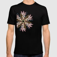 Flemish Floral Mandala Mens Fitted Tee Black SMALL