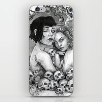 Skull Nouveau Babes iPhone & iPod Skin