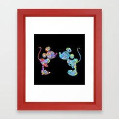 Love Is  Here  colorful watercolor Framed Art Print