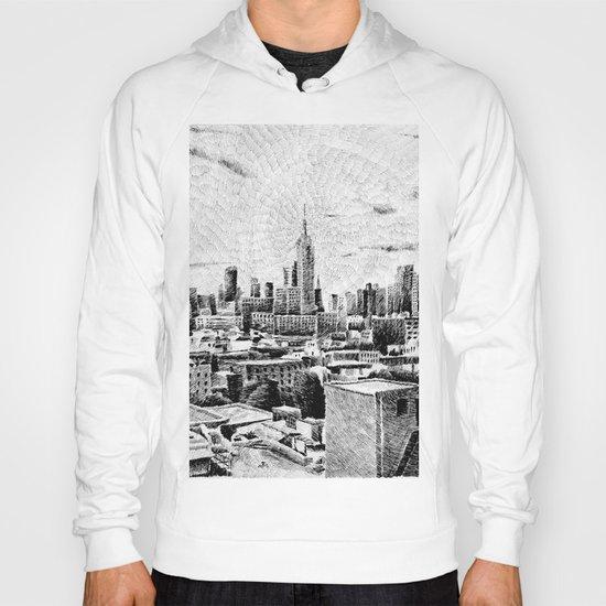 New York City - Fingerprint - Black ink Hoody