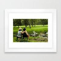 Pond Time Framed Art Print