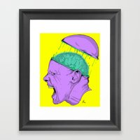 Brain Stain Framed Art Print