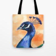 Peacock Print, Bird Art,… Tote Bag