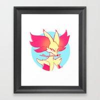 Delphox Framed Art Print