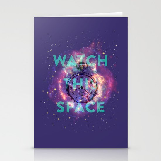 Watch this space Stationery Card
