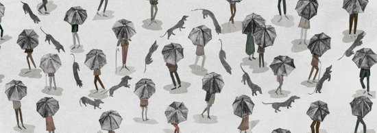 Running through the rain Art Print