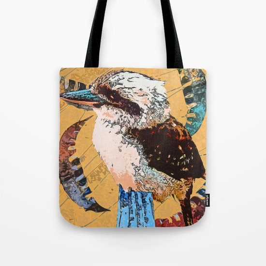 """Koo Koo for..."" ~ Kookaburra & Eucalyptus Leaf Pop Art Photography!  Tote Bag"
