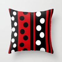 Stripes & Dots Throw Pillow