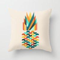 Groovy Pineapple Throw Pillow