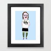 SUMMER COLLEGE NUN #1 Framed Art Print