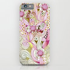Flower fire | yellow, purple, green and ocre Slim Case iPhone 6s