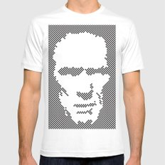 Harry Dots White SMALL Mens Fitted Tee