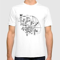 system Mens Fitted Tee White SMALL