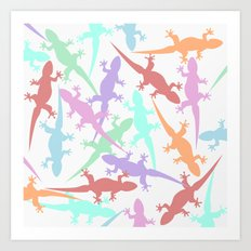 Lizards II Art Print