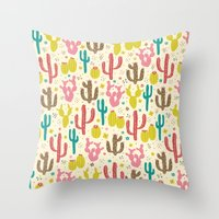 Prickly Cactus  Throw Pillow