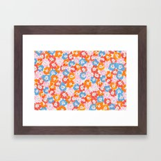 Morning Glory - Pink Multi Framed Art Print