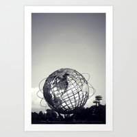 Unisphere at Flushing Meadows Park - New York City, Queens Art Print