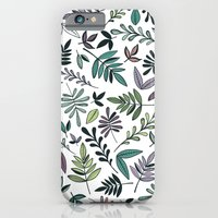 Black Border Leaves  iPhone 6 Slim Case