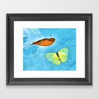 Floating Butterfly And L… Framed Art Print