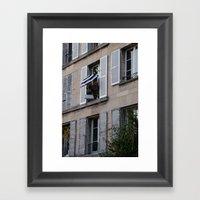 Parisian Awning Framed Art Print