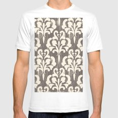 Damask1 Mens Fitted Tee White SMALL