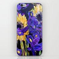 Sunflower & Iris iPhone & iPod Skin
