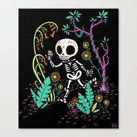 Sugar Skull Jungle Canvas Print