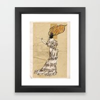 Ignes, the human volcano Framed Art Print
