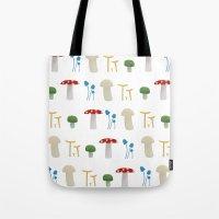 Mushroom Pattern  Tote Bag