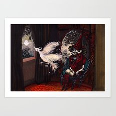 The Sorcerer and the Simourgh  Art Print