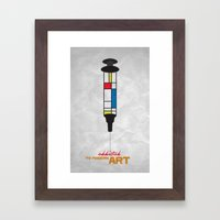 Addicted: Modern art Framed Art Print