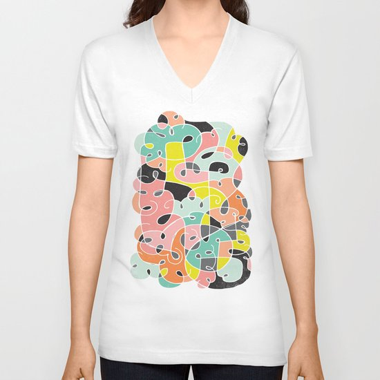ABSTRACT 1 V-neck T-shirt