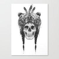 Dead Shaman (b&w) Canvas Print