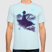 dream job Mens Fitted Tee Light Blue SMALL