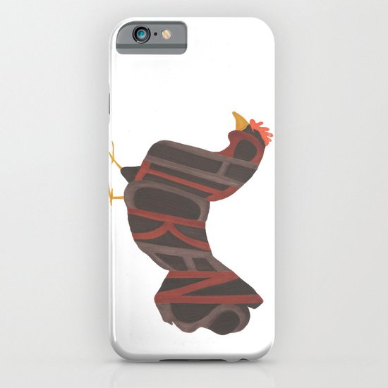 Chickens Typography iPhone & iPod Case
