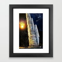 Stairway to.... u guess!  Framed Art Print