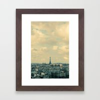 Paris In Blue Framed Art Print