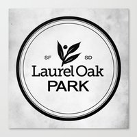 Laurel Oak Park Canvas Print