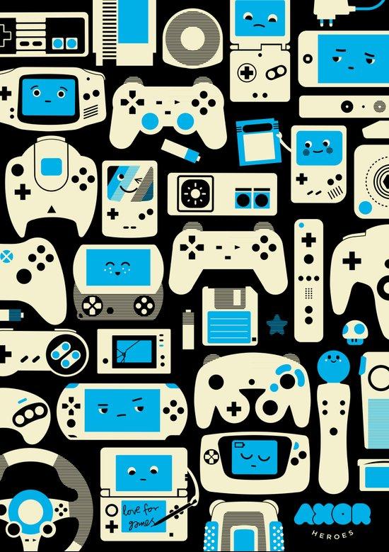 AXOR Heroes - Love For Games Duotone Art Print