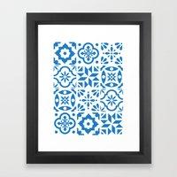 Spanish Tiles Framed Art Print