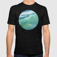 Teal Surf Mens Fitted Tee Tri-Black SMALL